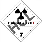 Radioactive I 7 DOT Label Only