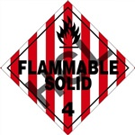 Flammable Solid 4 DOT Placard