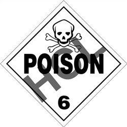 Poison 6  DOT HazMat Placard