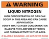Warning Liquid Nitrogen Concentration sign