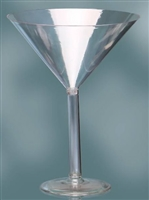 "12"" Plastic Martini Glass"