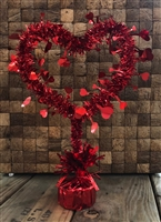 Tinsel Heart Centerpiece