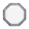 "White and Silver 9.25"" Plate (10pcs)"
