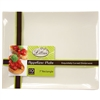 "White 7"" Rectangular Appetizer Plate"