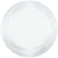 "Clear 13.5"" Round Serving Tray (2pcs)"
