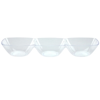Clear 3-Dip Tray (6pcs)