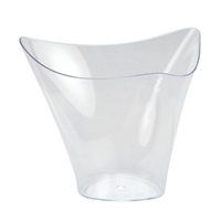 Clear Miniature Flared Triangular Cup (12pcs)