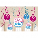Girl or Boy Swirl Decorations