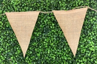 Jute Triangle Banner