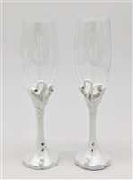 Heart Champagne Glasses