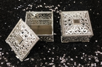 Square Favor Box Silver
