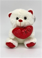 Teddy Bear w/ Sequin Heart