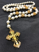 Gold/Pearl Rosary