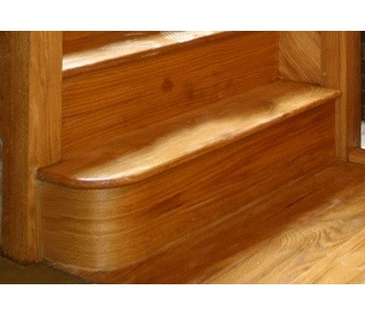 Oak Left Hand Bullnose Step