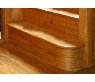 Oak Right Hand Bullnose Step