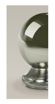 Brushed Ball Half Newel Cap 90mm