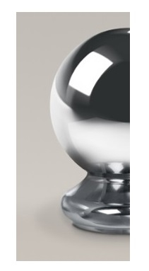 Chrome Ball Half Newel Cap 90mm