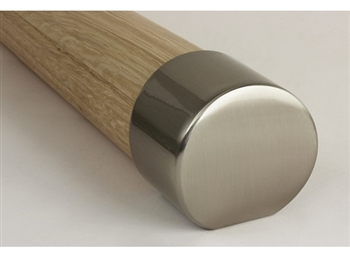 Mopstick Brushed Nickel Handrail End Cap