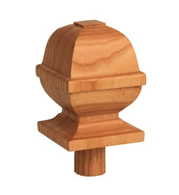 Ash Square Provincial Newel Cap 90mm