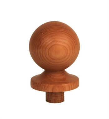 Ash Ball Newel Cap 90mm