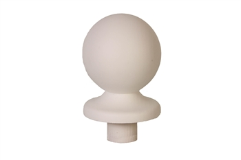 White Primed Ball Newel Cap 90mm