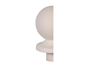 White Primed Ball Newel Half Cap 90mm
