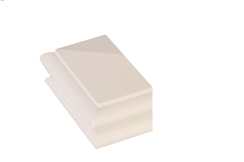 White Primed Pyramid Newel Half Cap 90mm