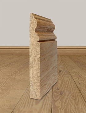 Solid Oak Skirting Board Profile 1