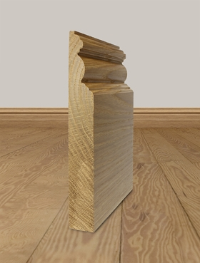 Solid Oak Skirting Board Profile 7