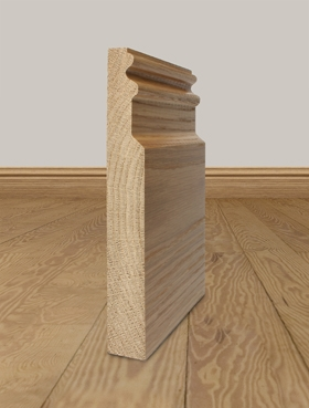 Solid Oak Skirting Board Profile 8