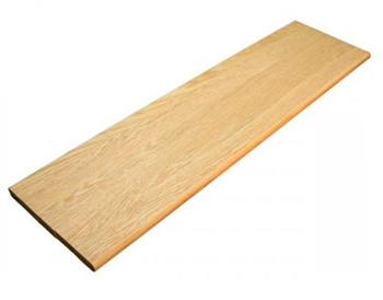 Solid Oak Tread 250mm x 21mm x 1.0mtr - 12mm Slot