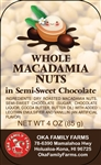 Semi Sweet Chocolate Covered Macadamia Nuts