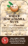 White Chocolate Covered Macadamia Nuts