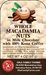 Combo Kona Coffee/Milk Chocolate Covered Macadamia Nuts