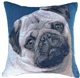 Pug 14x14 French Tapestry Throw Pillow