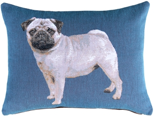 Pug 15x19 French Tapestry Throw Pillow