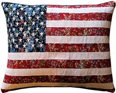 United States Flag Tapestry Throw Pillow 15x19