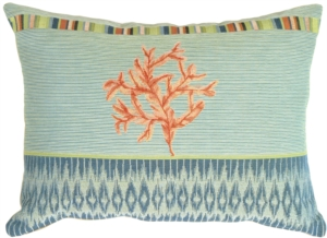 Tropical Coral Decorative Pillow
