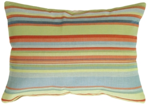 Tropical Stripes Rectangle Decorative Pillow
