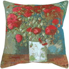 Van Gogh Poppies 19x19 Throw Pillow