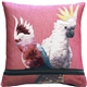 Cockatiel Birds Pink Tapestry Throw Pillow