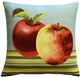 Fresh Apples on Blue 19x19 Throw Pillow