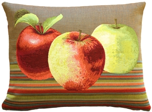 Fresh Apples on Brown Rectangular Throw Pillow
