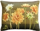 Yellow Dahlias Rectangular Tapestry Throw Pillow