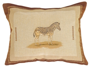 Zebra French Tapestry Throw Pillow