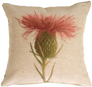Thistle Flower Decorative Pillow