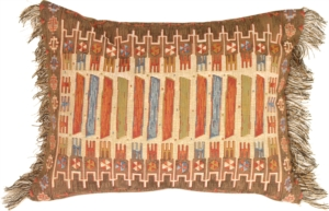 Kilim Rectangle White Decorative Pillow