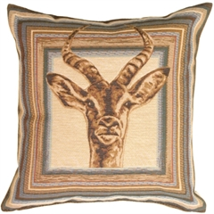 Blue Antelope Decorative Pillow
