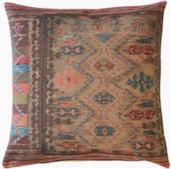 Kilim Hearth 19x19 Tapestry Throw Pillow
