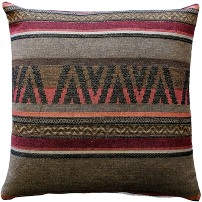 Kilim Stripes 19x19 Tapestry Throw Pillow